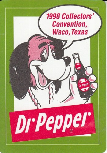 A Single Swap Playing Card DR. PEPPER CONVENTION DOG ADVERTISING CARD