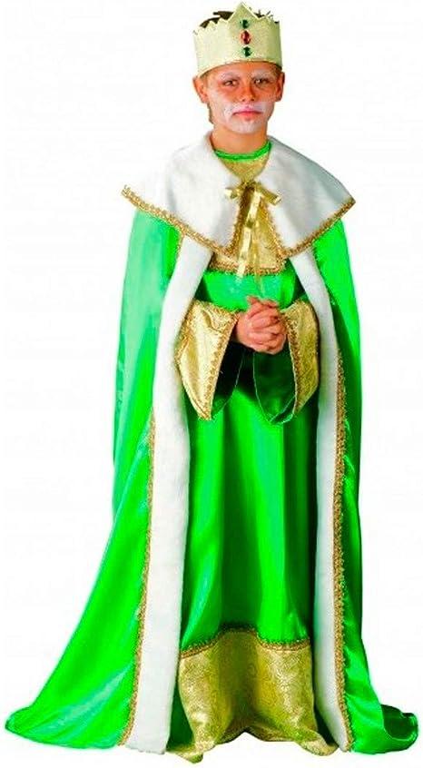 PROFISA Disfraz Rey Mago Verde INF Talla 10 AÑOS: Amazon.es ...