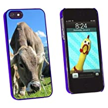 Graphics and More Grazing Cows Mountain Farm Snap-On Hard Protective Case for Apple iPhone 5/5s - Non-Retail Packaging - Blue