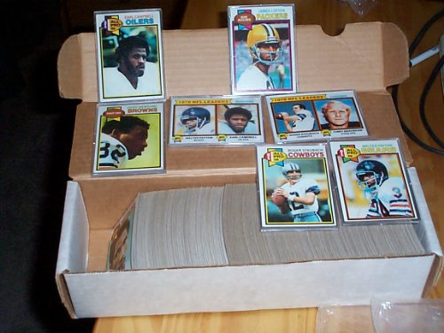 Earl Campbell Rookie complete 1979 Topps Football set w/ James Lofton rookie, Tony Hill Rookie, Tony Dorsett 2nd year, Walter Payton 4th year card, Roger Staubach, Terry Bradshaw, Randy White Ed Too Tall Jones, Jack Lambert, football trading card set