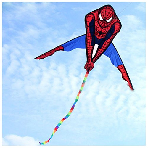 90x135cm Spiderman Kite Single Line Outdoor fun Sports Toys for kids by Unbranded