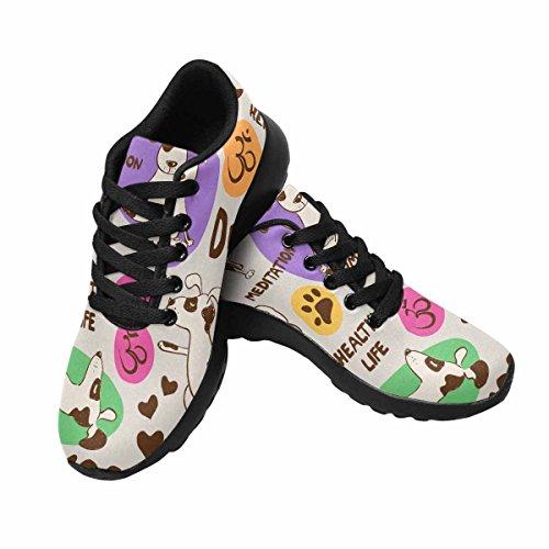 D-story Jogging Running Sneaker Yoga Dog Womens Casual Comfort Sport Walking Scarpe Da Corsa Nere