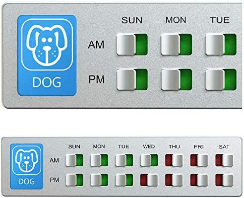 Glide Signs Dog Food Organizer – Pet Feeding Reminder - Am Pm Daily Indicator Sign - Fed or Feed The Puppy Supplies - Fridge Magnets and Double Sided Tape - Care for Your Pets