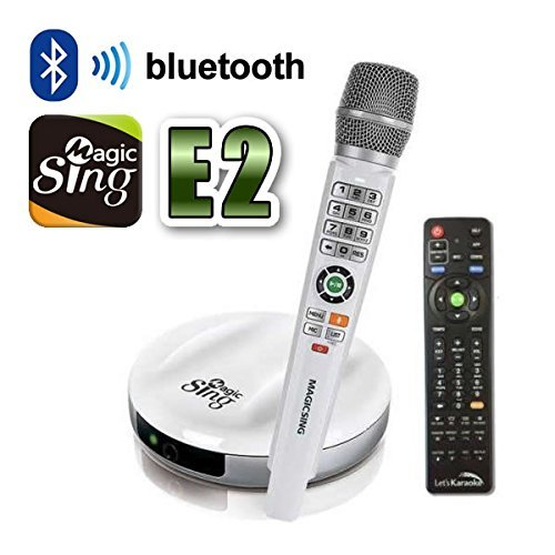 New 2018 MagicSing E-2 Smart Home Karaoke System Wireless Microphone Stream 10,000+ English/American Songs · Requires WiFi · Free 2-Month Subscription Code for Tagalog Hindi Korean Spanish Russian Magic Sing 4336349539