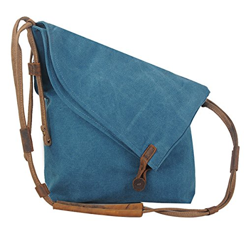 Coofit Hobo Bag Casual Canvas Crossbody Messenger Bag Shouder Bag Unisex