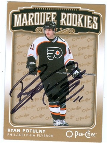 Autograph Warehouse 36870 Ryan Potulny Autographed Hockey Card 2006-2007 O-Pee-Chee Marquee Rookies