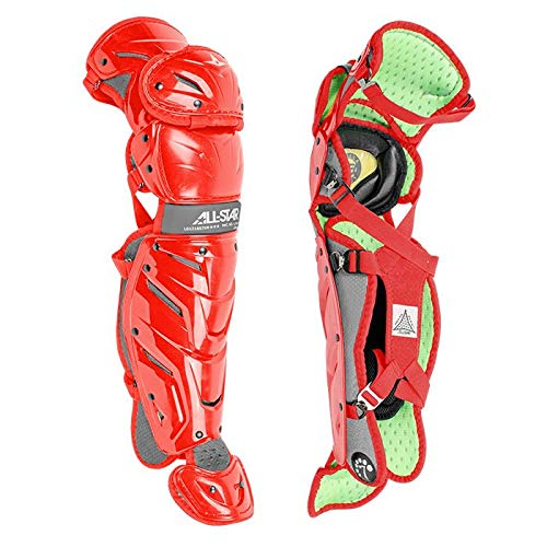 All-Star S7 Axis Youth 9-12 Pro Leg Guards LG912S7X (Scarlet) -