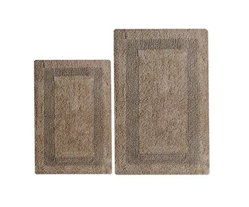 "Chardin Home - Arizona Reversible 2 piece bath rugs set - 21x34 & 17x24, Beige - Our Super Soft fully reversible 2 piece bath rug set measures 21''x34'' / 17""x24"". The rug has a plush pile on both sides and is fully reversible. It has no backing, so use of a non-skid rug pad is strongly recommended. - bathroom-linens, bathroom, bath-mats - 51gmhux7 JL -"