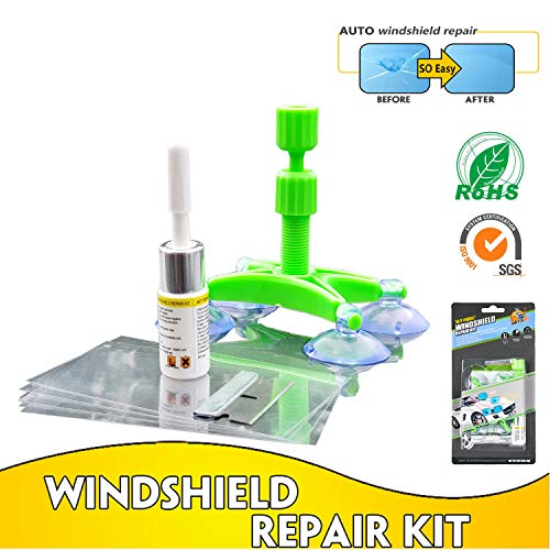 MR FIX9H DIY Auto Windshield Repair Kit With The Newest Repair Resin for Windshield Crack,Half Moon Crescents,Star Chips,Bulls Eye