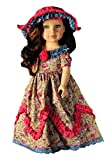 Ebuddy 2pcs doll clothes-includes Retro Duchess Royal Gown Party Dress+ Hat for 18 Inch dolls