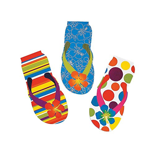 - Fun Express- 48 Flip Flop Notepads~Luau/Hawaiian Themed Stationery~Luau Party Supplies~Student Incentives