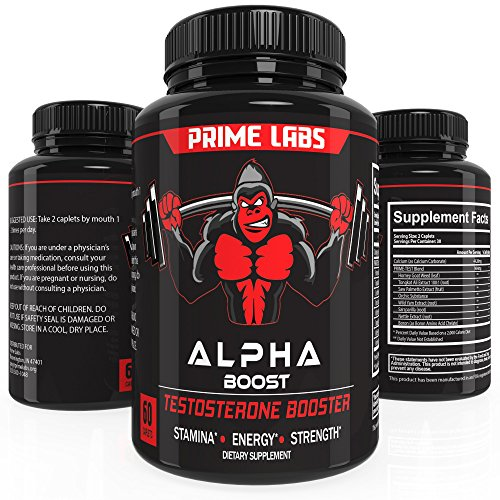 Building Professional Muscle - Alpha Boost Testosterone Booster for Strength and Energy, Over The Counter Male Enhancement Pills that Build Muscle Fast, Boost Libido and Burn Fat