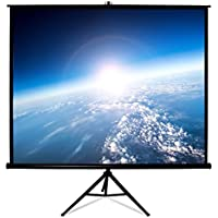 HamiltonBuhl 99 Diag. (70x70) Tripod Projector Screen, Square Format, Matte White Fabric - Black Case