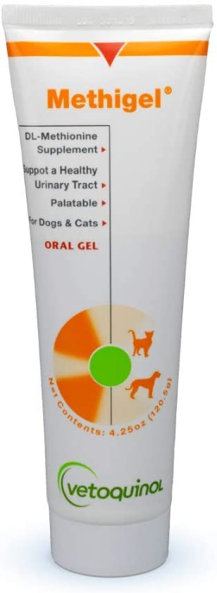 Vetoquinol Methigel Urinary Acidifier to Promote Urinary and Bladder Health for Dogs & Cats