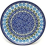 "Polish Pottery Plate - 10"" Dinner - Antique Rose"