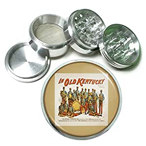 "63mm 2.5"" 4Pc Aluminum Sifter Magnetic Grinder D-106 In Old Kentucky The Original Pickaninny Band"