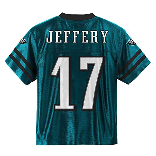 Outerstuff Alshon Jeffery Philadelphia Eagles #17 Green Youth Home Player Jersey (Medium ()