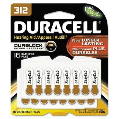 Duracell - 2 Pack - Button Cell Hearing Aid Battery #312 16/Pk