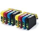 T1285 / E-1285 x2 Sets Compatible Printer Ink Cartridges for Epson Stylus Office BX305F, 305FW, Epson Stylus S22, SX125, SX130, SX230, SX235W, SX420W, SX425W, SX430W, SX435W, SX438W, SX440W, SX445W,