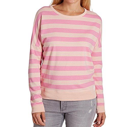 Marc O'Polo Denim 841 4119 54285 S57 Damen Langarmsweatshirt mit Streifen-Optik Pink/Rosé/Gestreift