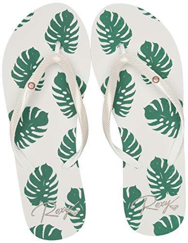 Roxy Women's Portofino Fip Flop Sandal Flip, Green, 10 M US (Portofino Shoes)