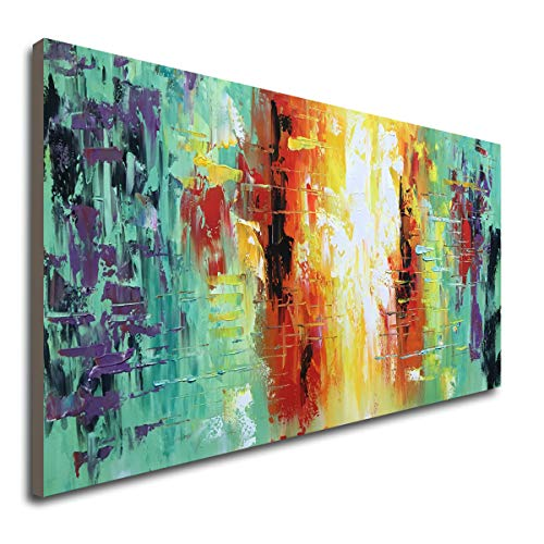 Hand Painted Textured Abstract Artwork Modern Wall Art Decor Handmade Oil Painting on -