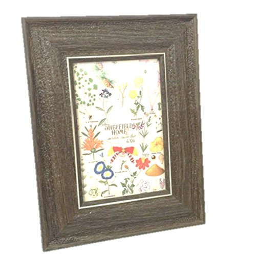 Sheffield Home Brown Wood Grain 5 by 7 Picture Frame Recycled Material