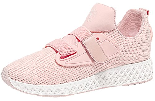 Passionow Women's Casual Comfort Breathable Sport Running Walking Velcro Trendy Sneakers (5.5 (Slender Man Costume For Kids For Sale)