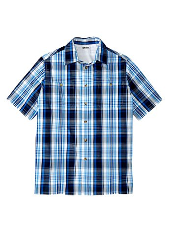 Kingsize Short Sleeve Plaid Sport Shirt