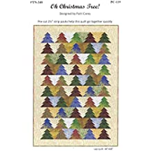 "Oh Christmas Tree! Quilt Pattern, by Patti Carey, Designer, Jelly Roll 2.5"" Strip Friendly 3 Size Options, Easy, For Confident Beginner"
