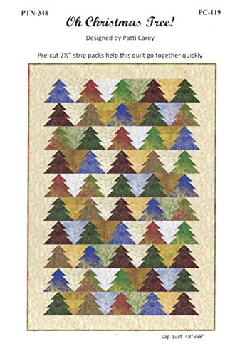 Oh Christmas Tree! Quilt Pattern, by Patti Carey, Designer, Jelly Roll 2.5