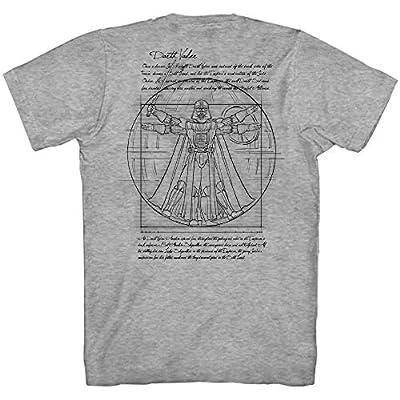 Star Wars Vitruvian Man Darth Vader Front & Back Leonardo da Vinci Funny Tee Adult Mens Graphic T-Shirt