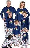 PajamaGram Holiday Pajamas Family Fleece - Minion Pajamas, Blue, Women, L, 12-14