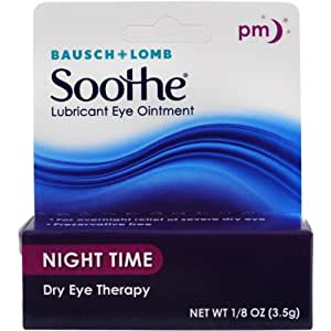 Bausch + Lomb Soothe Lubricant Eye Ointment, Night Time, 1/8 oz.