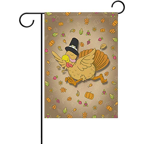 Starobos Garden Flag 12 x 18 inches Decoration Double Sided Autumn Harvest Thanksgiving Turkey Welcome -