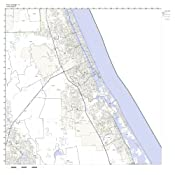 Port Orange Zip Code Map.Amazon Com Port Orange Fl Zip Code Map Laminated Home Kitchen