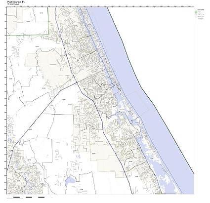 Amazon Com Port Orange Fl Zip Code Map Laminated Home Kitchen