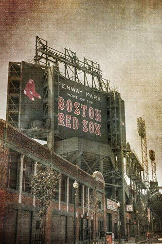 - Boston Red Sox Poster - Fenway Park Vintage Print - Red Sox Art