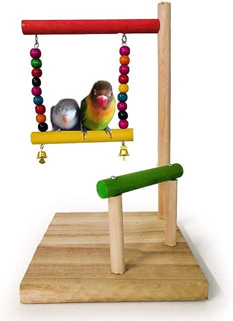 XDYFF Escalera de Madera, Juguete para pájaros, Loros, periquitos, Plataforma de trampolín, Columpio, estación, Escalera, Escalera, área de Juegos, Estadio, Bar: Amazon.es: Deportes y aire libre