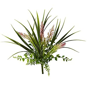 "Nearly Natural 6154-S12 11"" Grass and Fern Artificial Plant (Set of 12) Green 12"