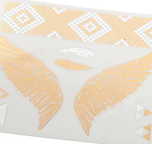 Bigood Colorful Nontoxic Double Wing Temporary Tattoo Sticker Paster by Bigood (Image #6)