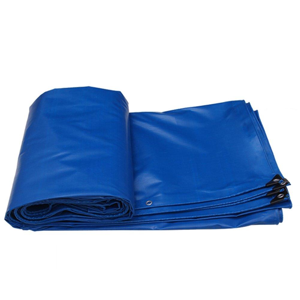 AJZGF Regenschutz Wasserdicht Verdickte LKW-Plane regendichte Sonnencreme Wasserdichte Fracht Sonnencreme Isolierung abriebfestes Antioxidans (Farbe   Blau, größe   10x8M)