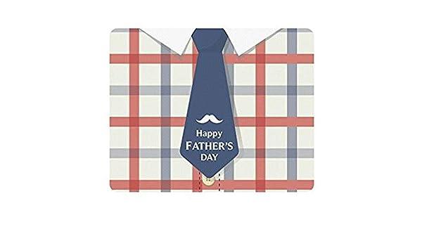 Feliz Día Del Padre Con Corbata Azul En Cuadros Cuadros Rectángulo ...