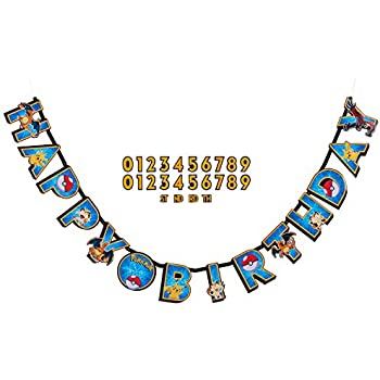 American Greetings Pokemon Add-an-Age Birthday Party Banner (Discontinued by manufacturer)