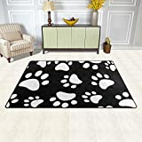 DEYYA Dog Cat Paw Non-slip Area Rugs Pad 60 x 39 inches, Modern Floor Mat Living Room Bedroom Carpets Doormats Home Decor Review