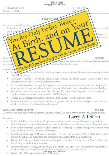 You're Only Perfect Twice: At Birth and on Your Resume ebook