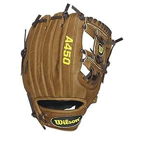 Wilson Advisory Staff Dustin Pedroia Youth Baseball Glove, Saddle Tan, Right Hand Throw, 10.75-Inch
