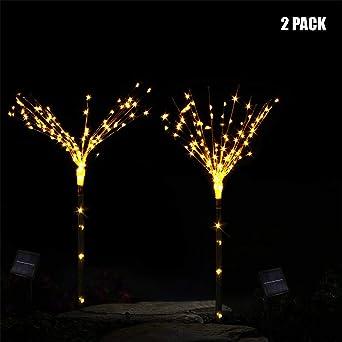 bloatboy - Juego de 2 lámparas de jardín con forma de árbol, 100 ledes, luz solar: Amazon.es: Iluminación