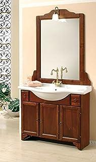 arredo bagno arte povera 85 cm con lavabo in ceramica: amazon.it ... - Arredo Bagno In Arte Povera
