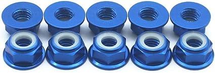 Green 20 Pcs M4 Nuts Flanged Nylon Lock Nut Nylock Self-lock Aluminum Nuts